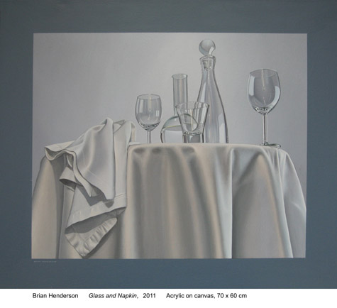 Glass and napkin by Brian Henderson