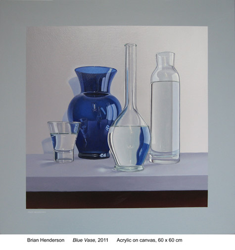 Blue vase by Brian Henderson