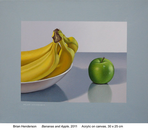 Bananas and apple by Brian Henderson