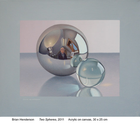 Two spheres by Brian Henderson